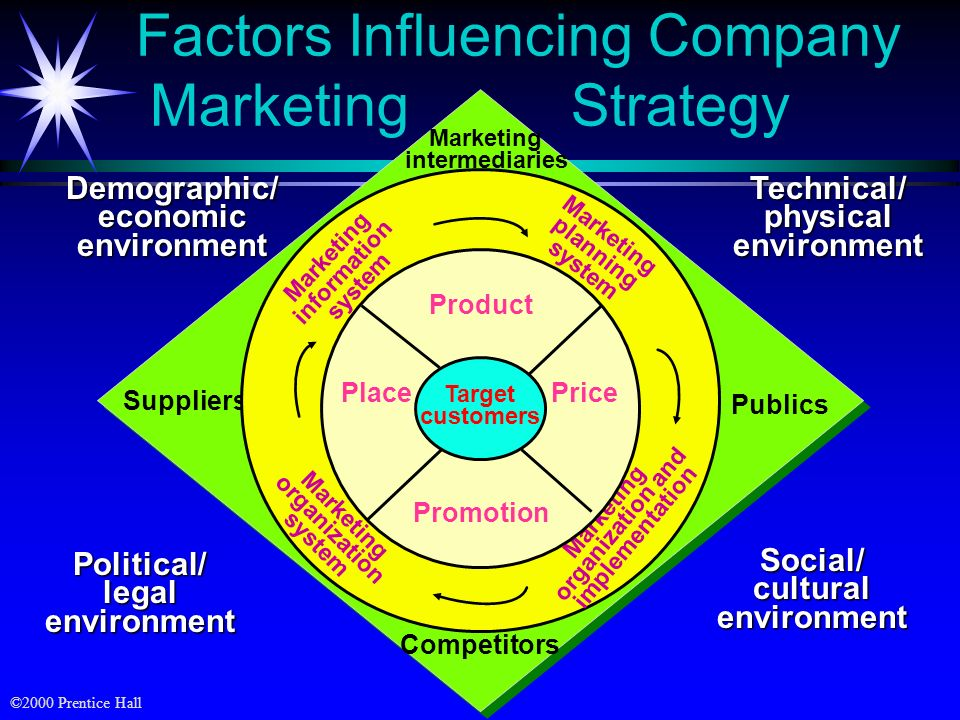 factors influencing company marketing strategy Factors influencing strategic decision-making found that a company's strategy consists of competitive marketing are significantly and negatively.