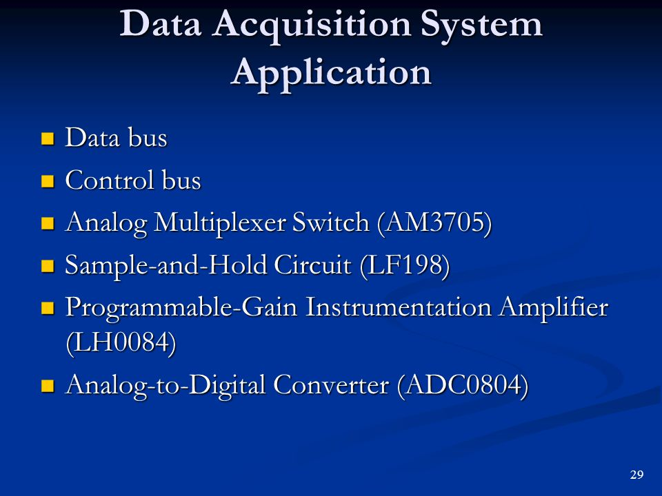 Data Acquisition System Application