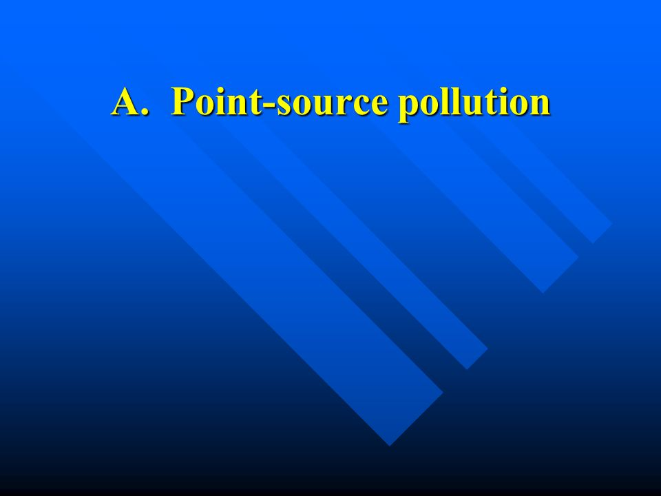 A. Point-source pollution