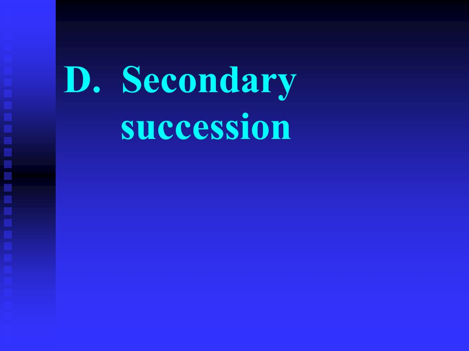 D. Secondary succession