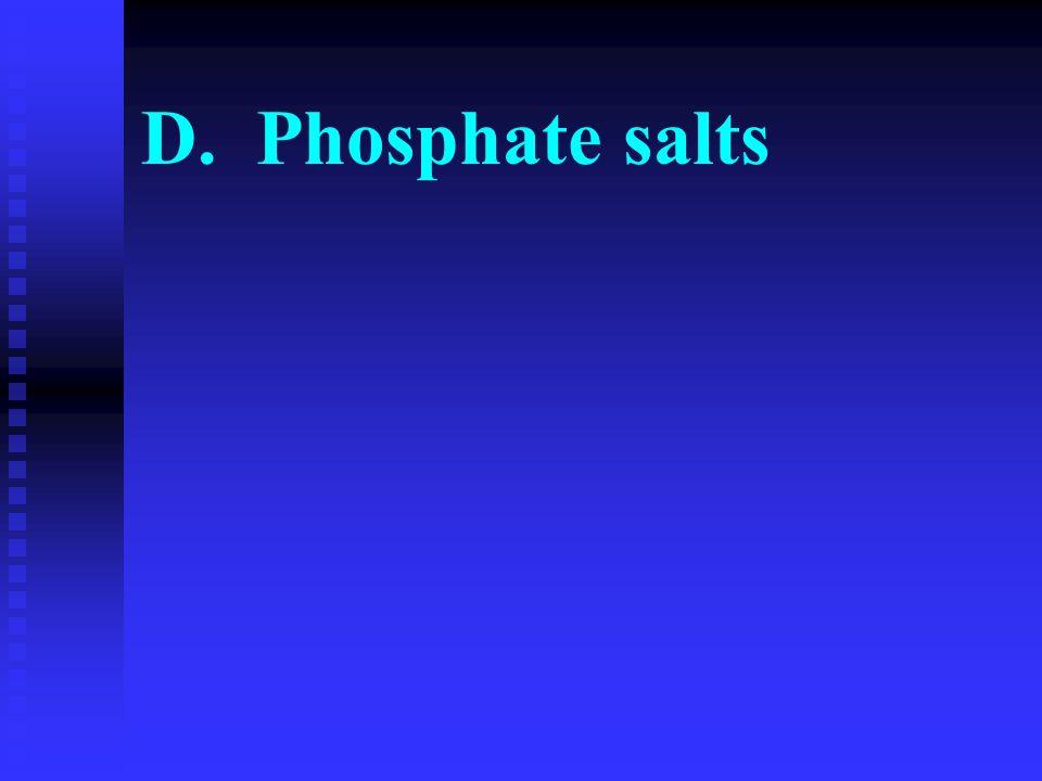 D. Phosphate salts