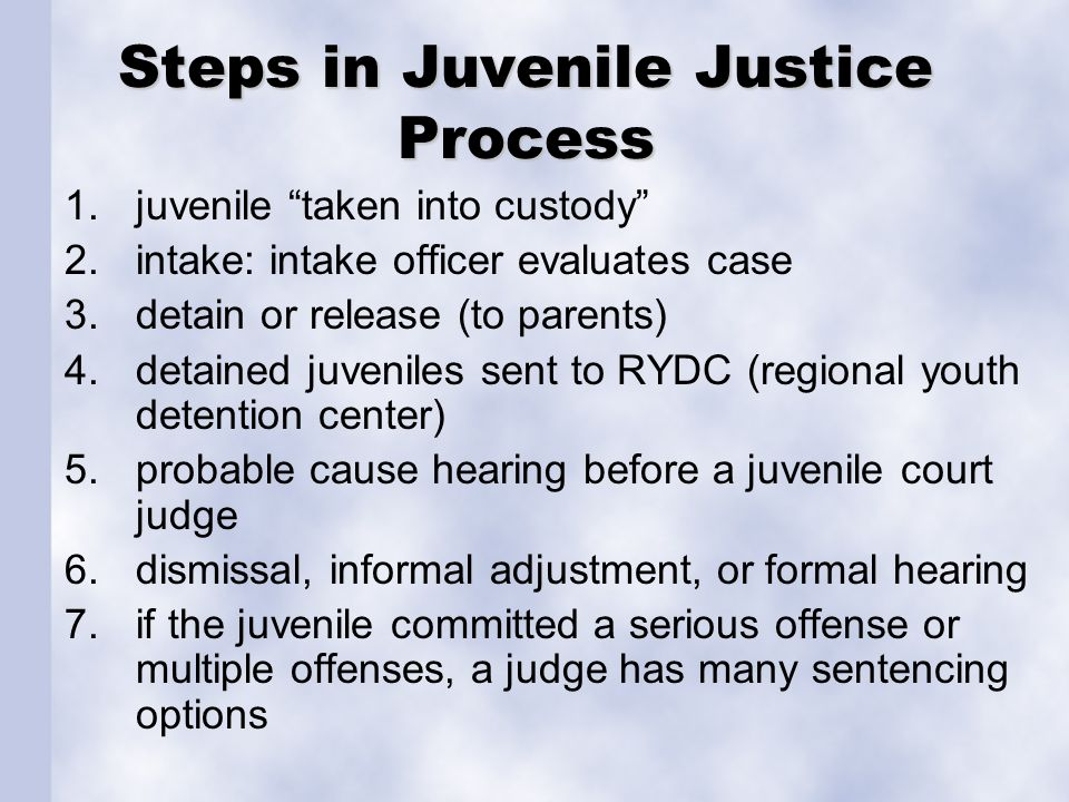 Steps in Juvenile Justice Process