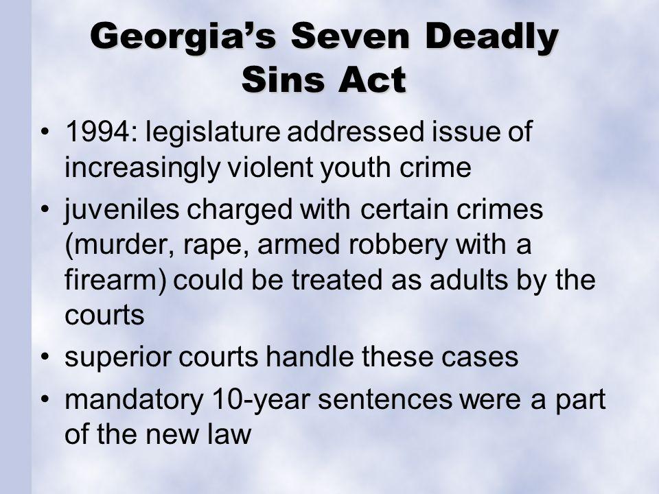 Georgia's Seven Deadly Sins Act