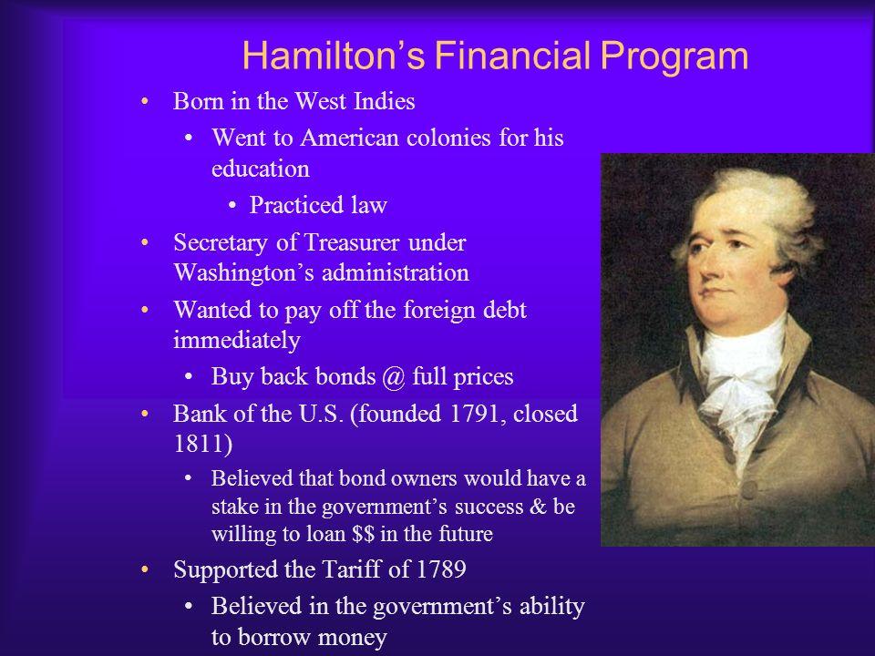 Hamilton's Financial Program