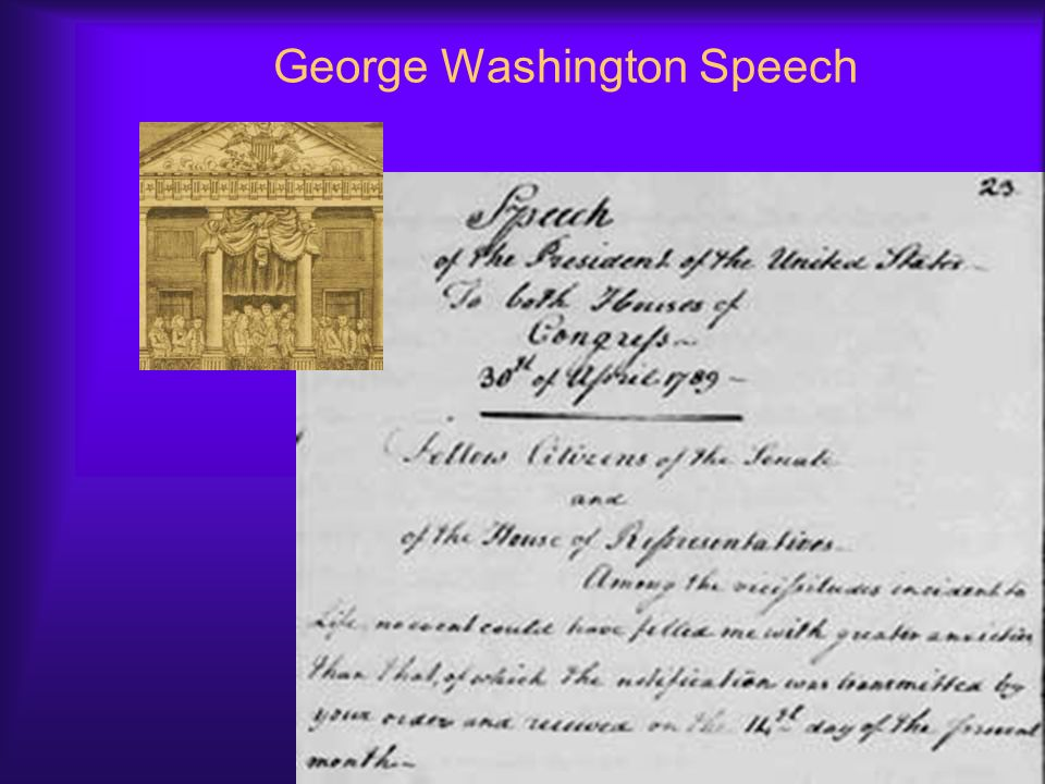 George Washington Speech