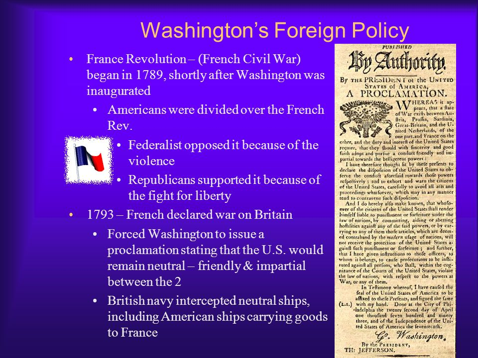 Washington's Foreign Policy