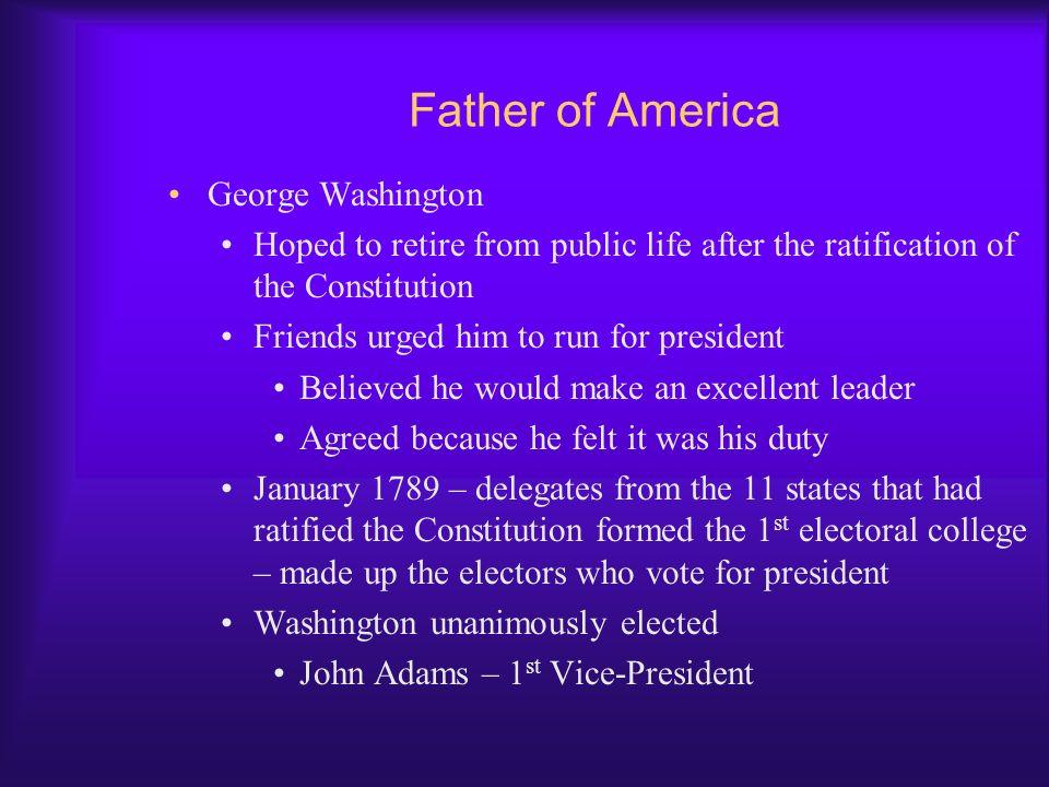 Father of America George Washington