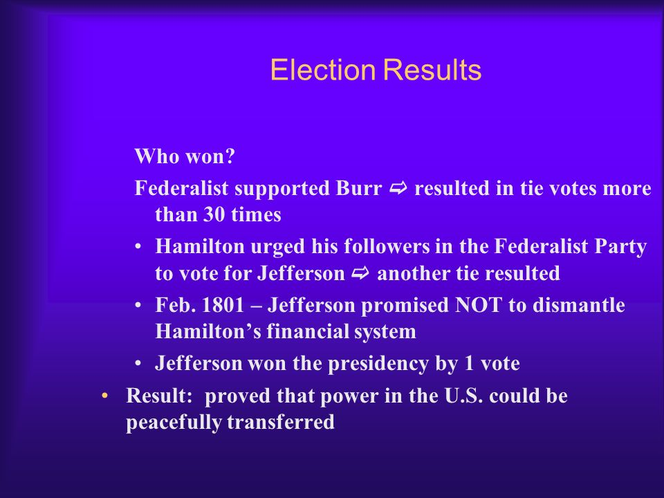Election Results Who won
