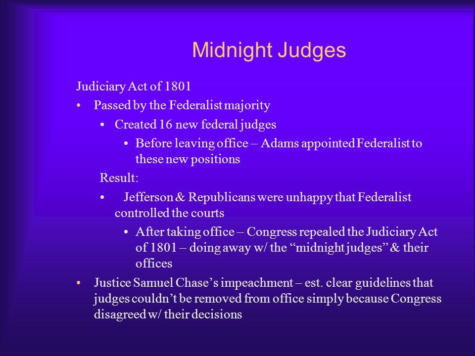 Midnight Judges Judiciary Act of 1801