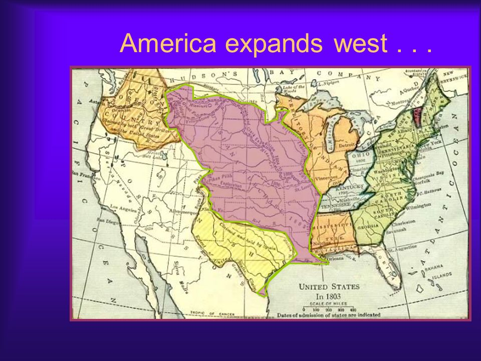 America expands west . . .