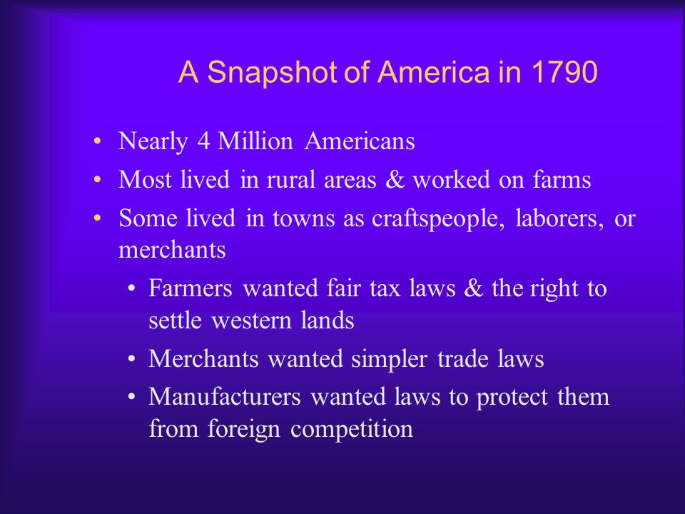 A Snapshot of America in 1790