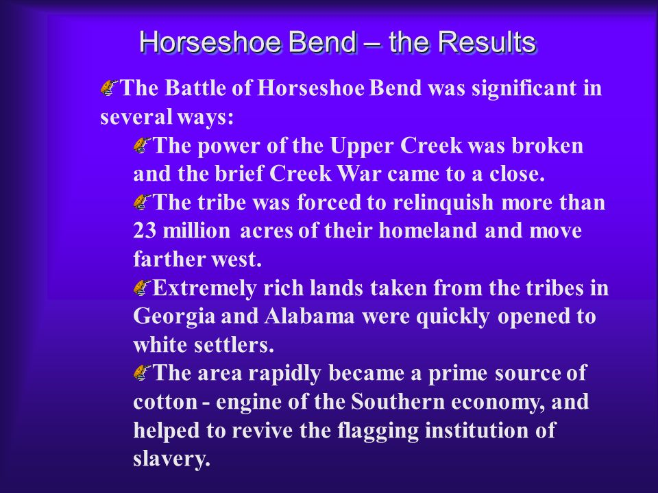 Horseshoe Bend – the Results