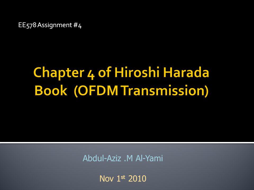 Chapter 4 of Hiroshi Harada Book (OFDM Transmission)