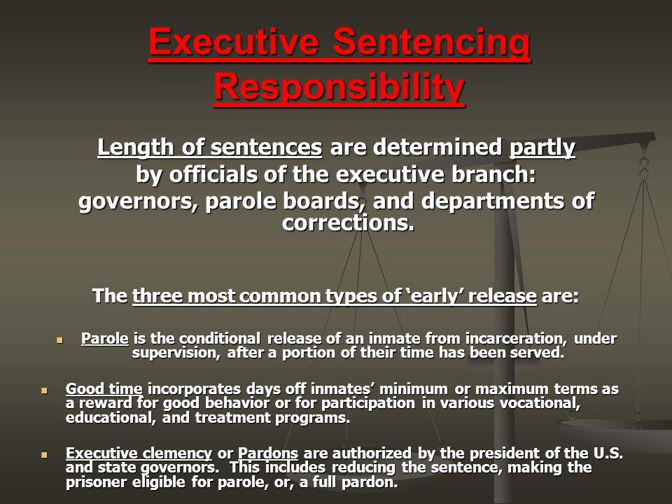 Executive Sentencing Responsibility