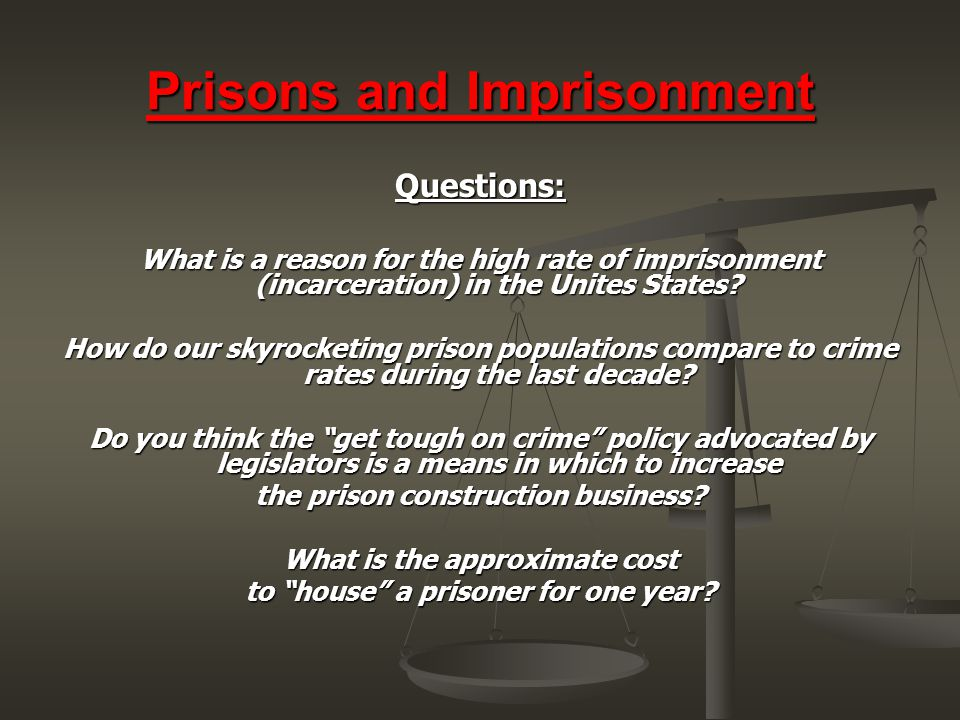 Prisons and Imprisonment