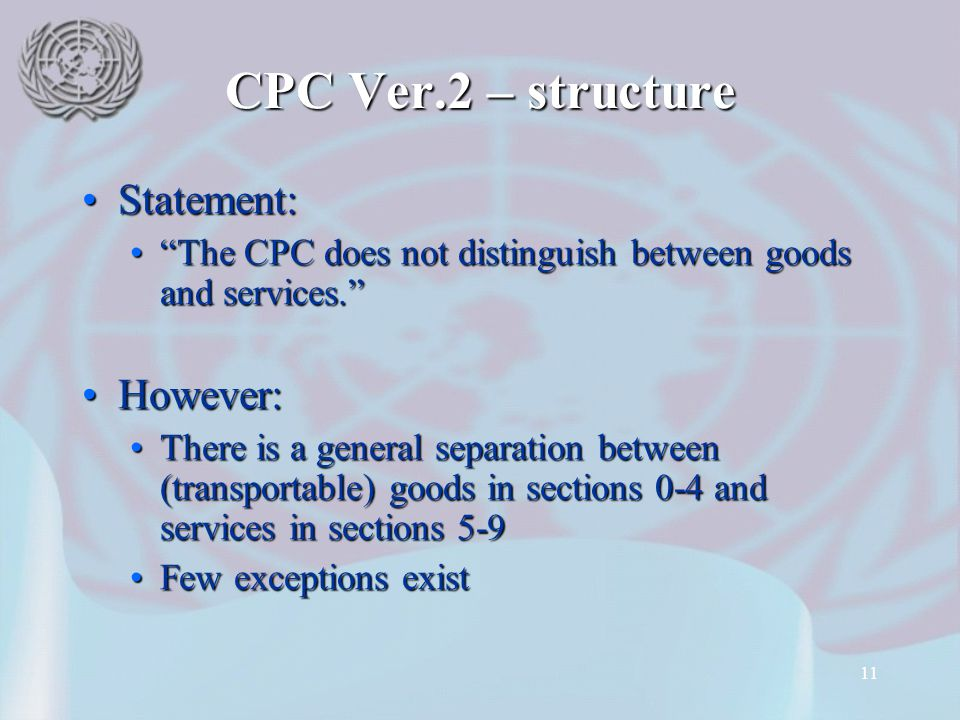 CPC Ver.2 – structure Statement: However: