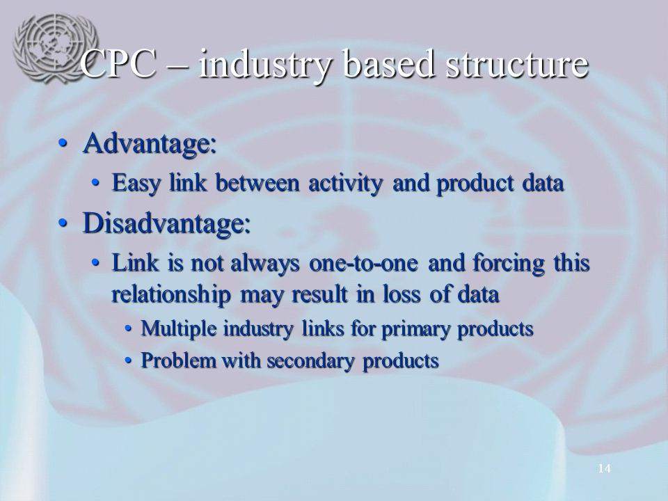 CPC – industry based structure