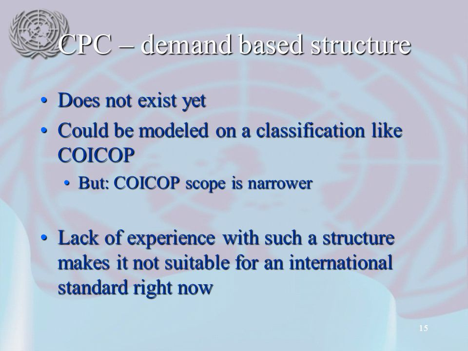 CPC – demand based structure