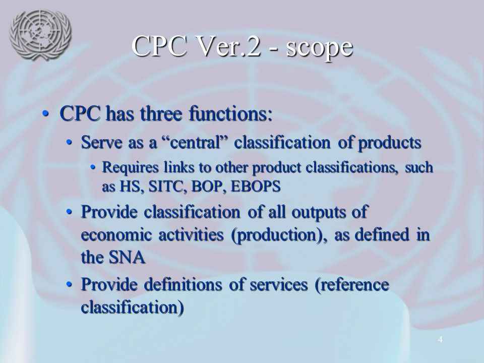 CPC Ver.2 - scope CPC has three functions: