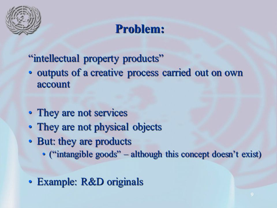 Problem: intellectual property products