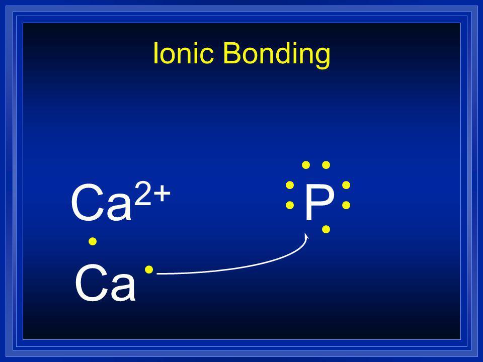 Ionic Bonding Ca2+ P Ca