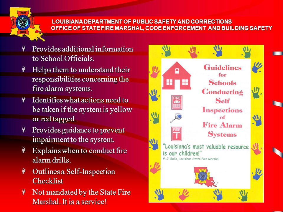 Provides additional information to School Officials.