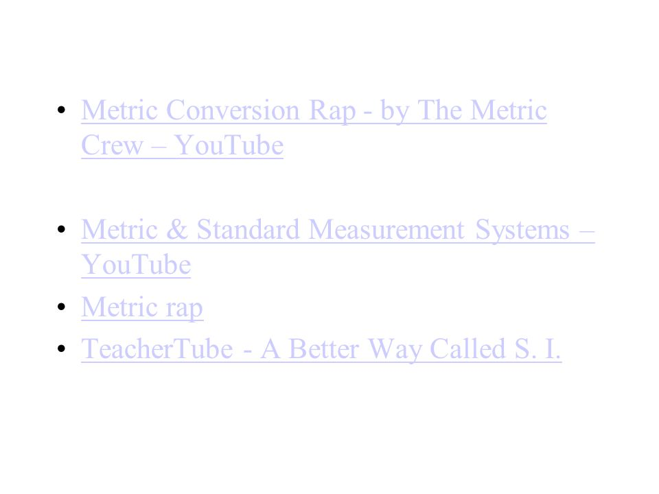Metric Conversion Rap - by The Metric Crew – YouTube