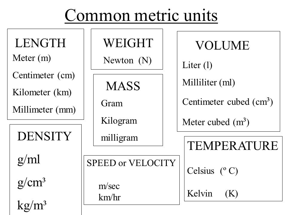 Metric Measurements. - ppt video online download