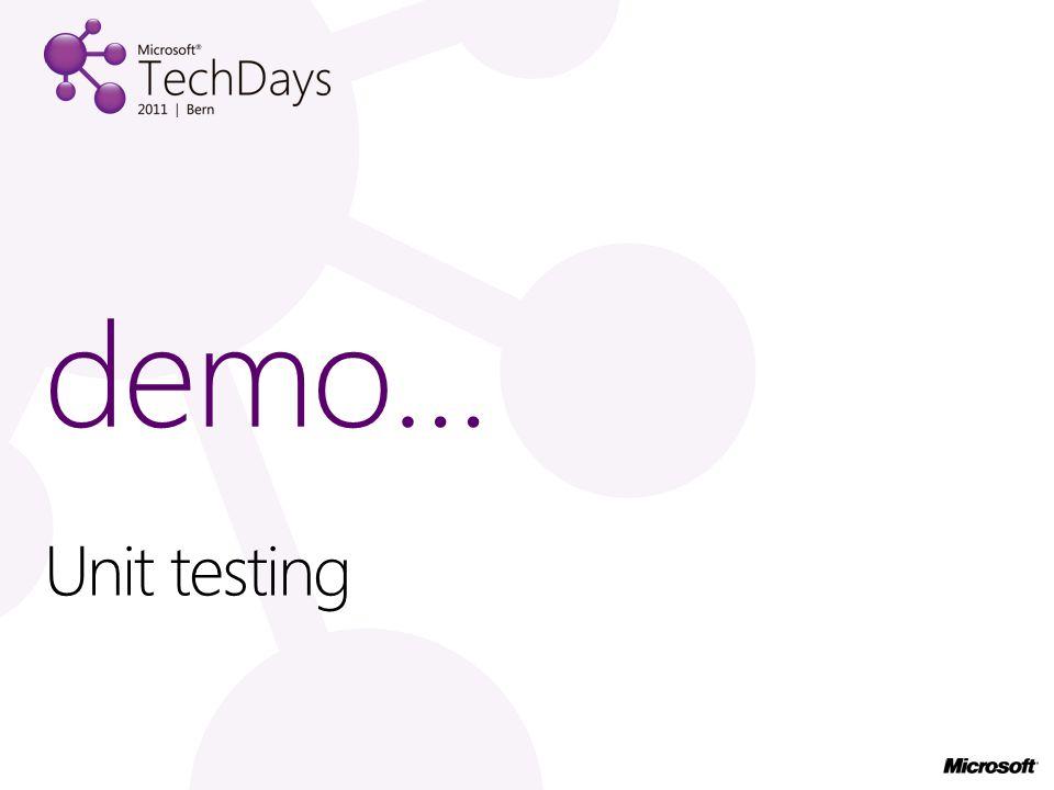 demo… Unit testing