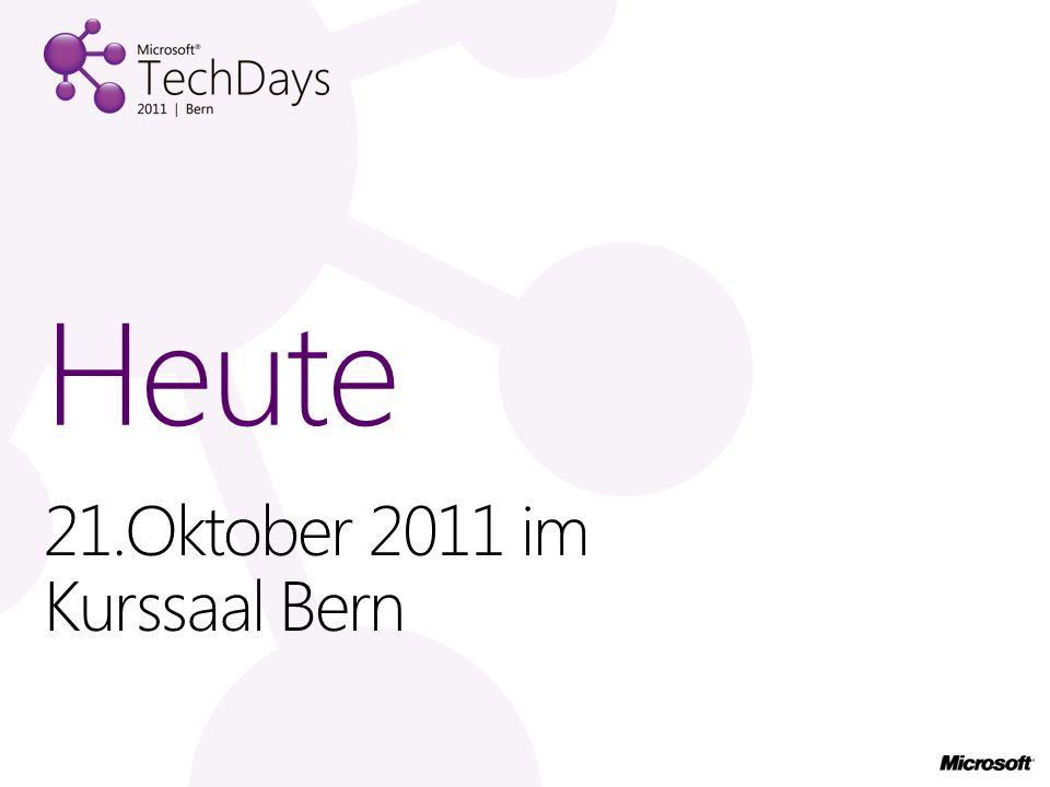21.Oktober 2011 im Kurssaal Bern