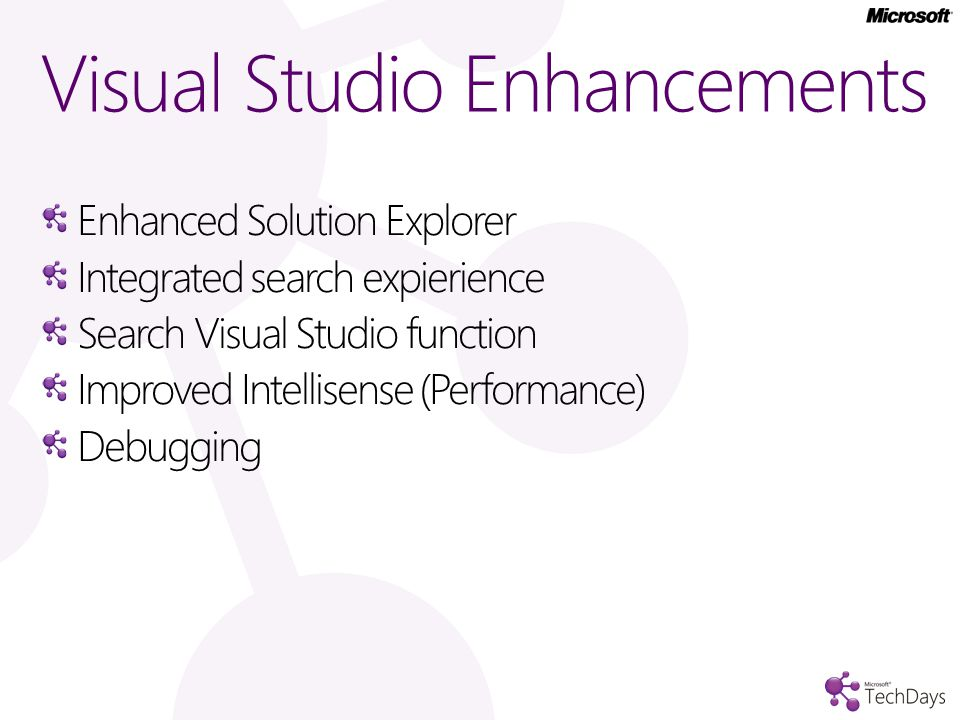 Visual Studio Enhancements