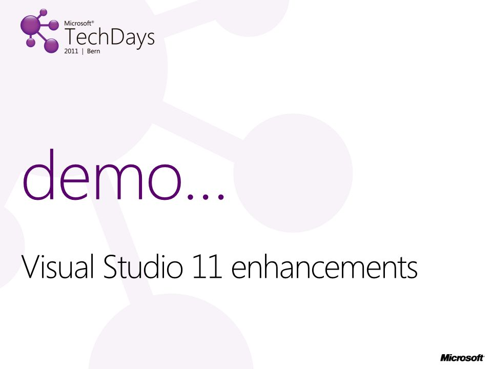 Visual Studio 11 enhancements