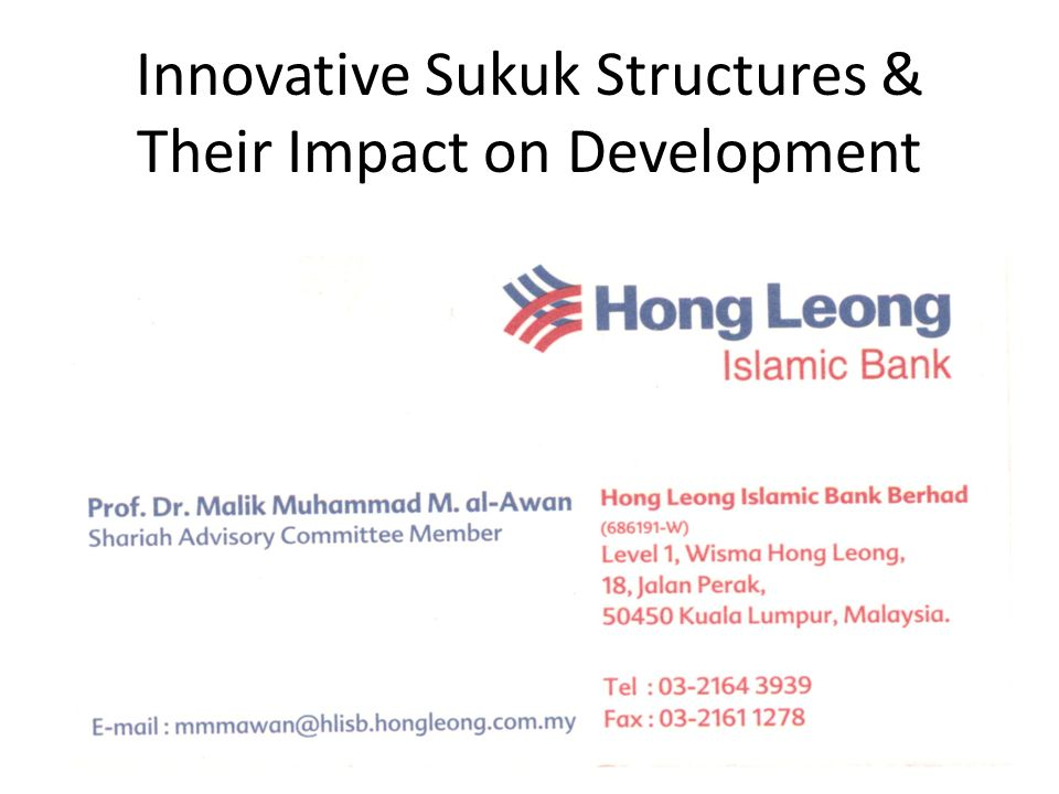 Innovative Sukuk Structures & Their Impact on Development