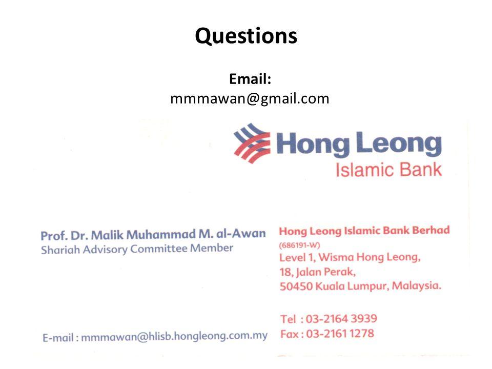 Questions Email: mmmawan@gmail.com