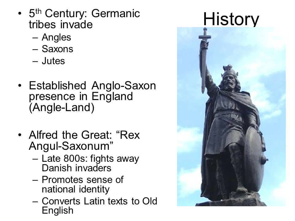 History 5th Century: Germanic tribes invade