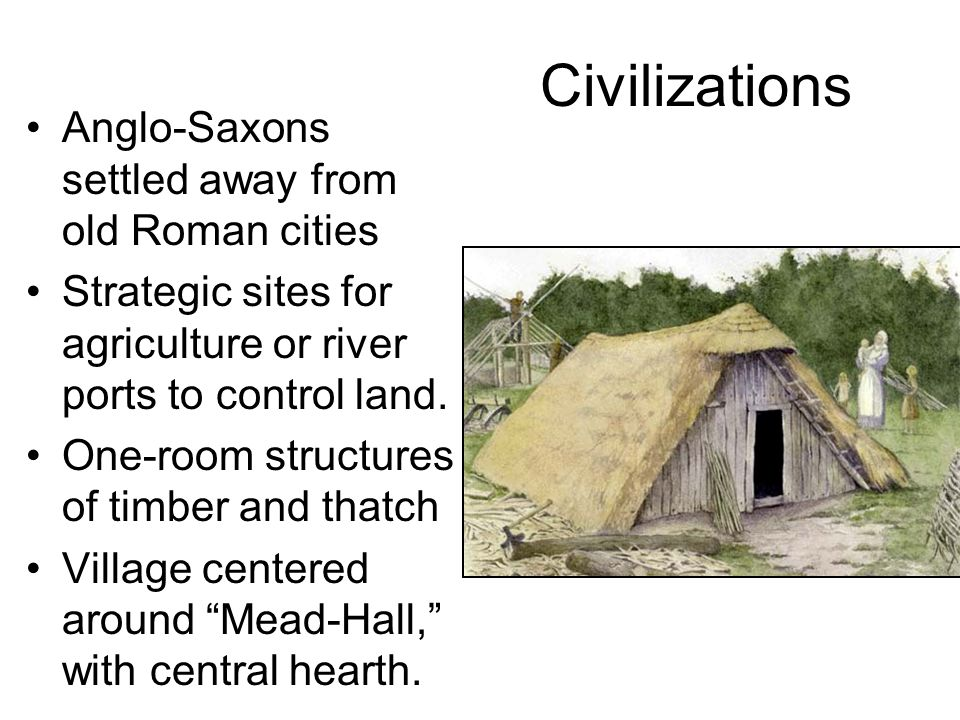 Civilizations Anglo-Saxons settled away from old Roman cities