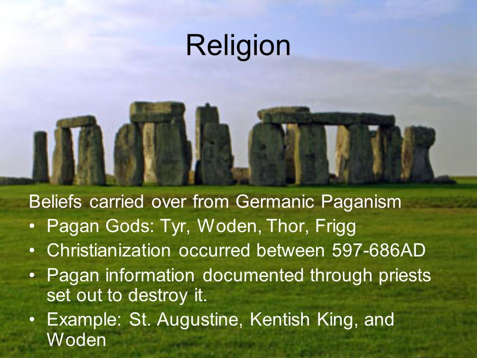 Religion Beliefs carried over from Germanic Paganism