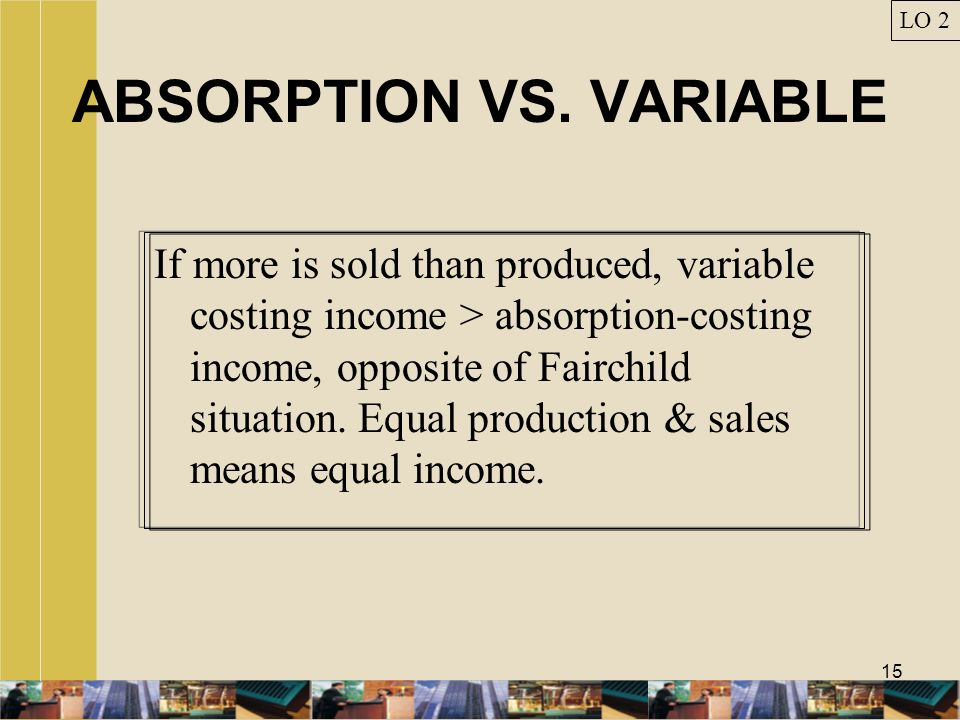 ABSORPTION VS. VARIABLE