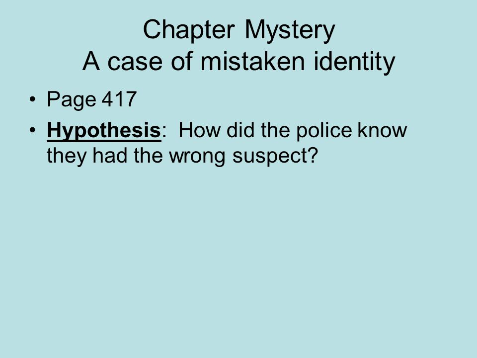 chapter genetic engineering ppt video online chapter mystery a case of mistaken identity