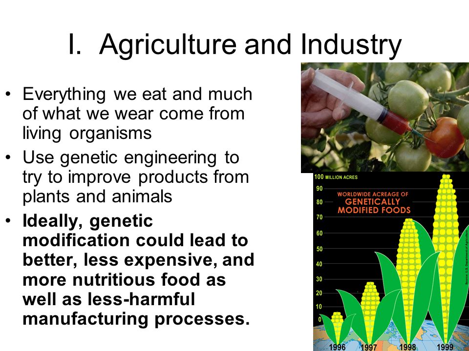 I. Agriculture and Industry