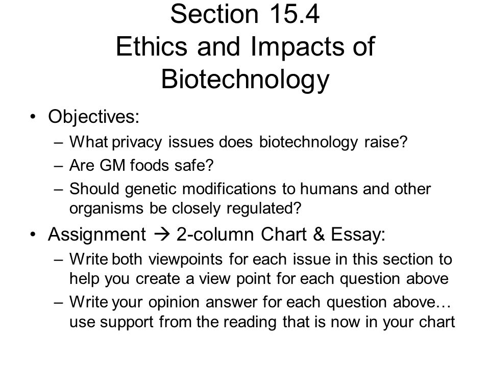 biotechnology and genetically modified foods essay Read this essay to learn about the genetically modified foods: it's marketing fallacies, consumer analysis and biotechnology balance consumer's attitudes toward biotechnology are divided.