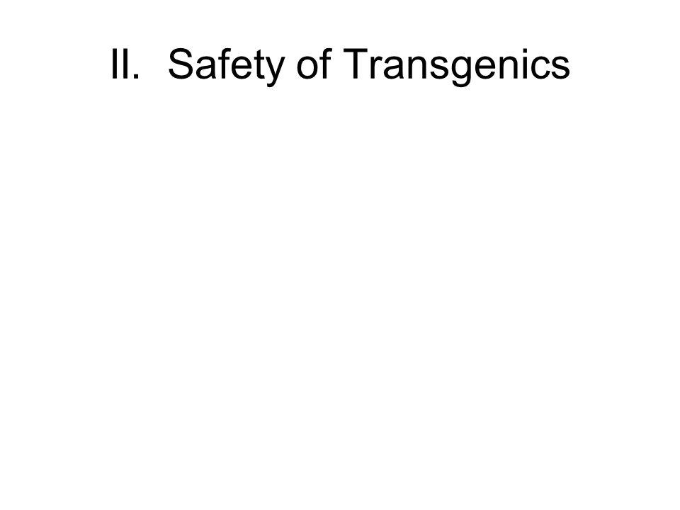II. Safety of Transgenics