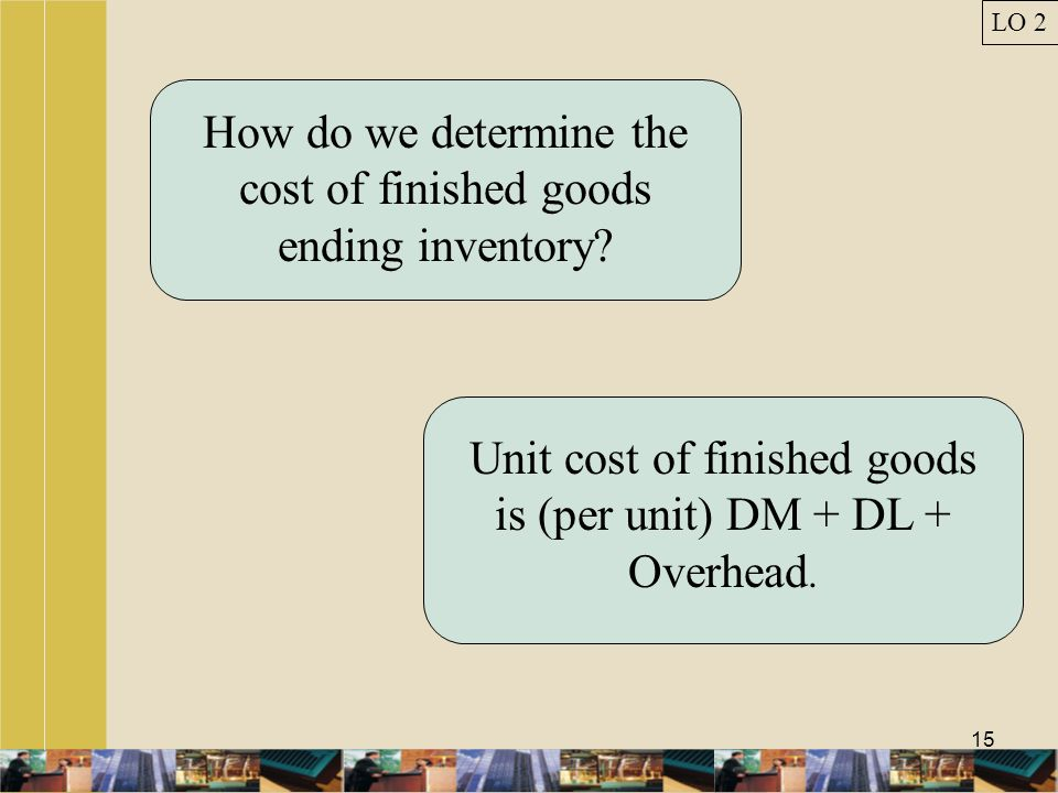 How do we determine the cost of finished goods ending inventory