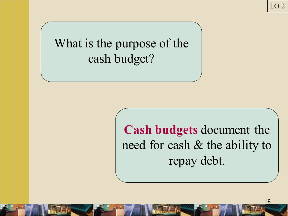 What is the purpose of the cash budget