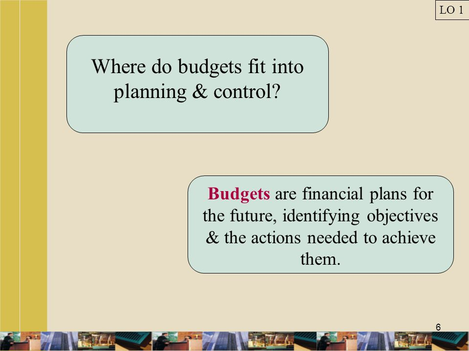 Where do budgets fit into planning & control