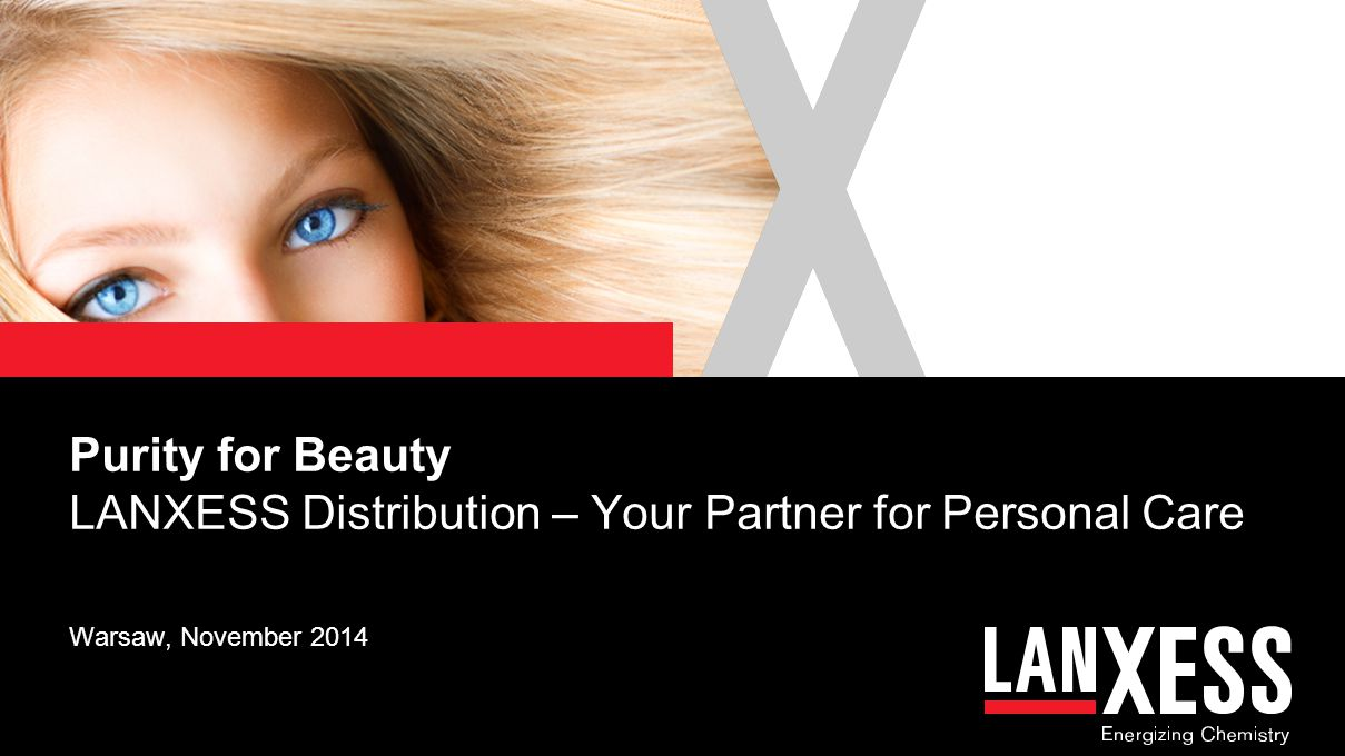 Purity for Beauty LANXESS Distribution – Your Partner for Personal Care