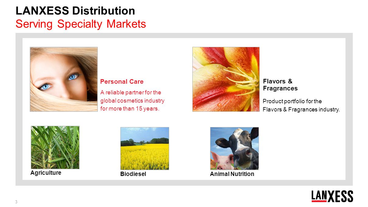 LANXESS Distribution Serving Specialty Markets