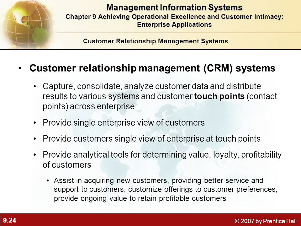 Customer relationship management (CRM) systems