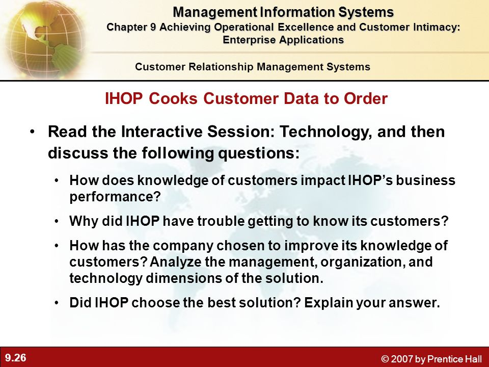 IHOP Cooks Customer Data to Order