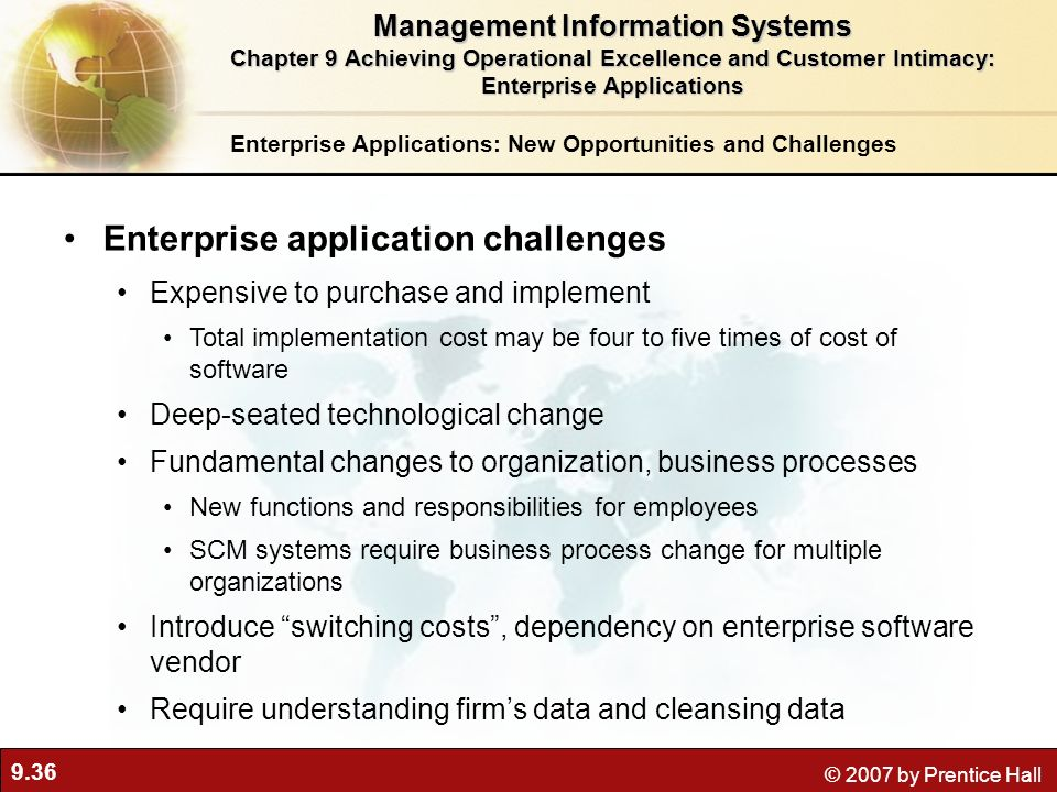 Enterprise application challenges